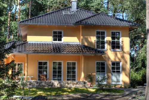 Referenzen einfamilienh user architekturb ro gaebel in for Einfamilienhaus falkensee